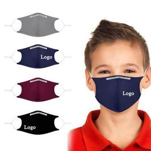 Kids' 3-layer Reusable Cotton Face Mask With Pocket For Filter